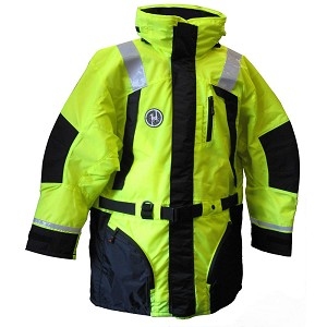 First Watch Hi-Vis Flotation Coat - Hi-Vis Yellow/Black - Small - AC-1100-HV-S