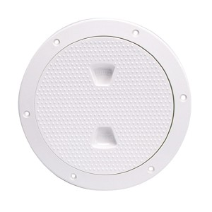 "Beckson 6"" Non-Skid Screw-Out Deck Plate - White - DP62-W"