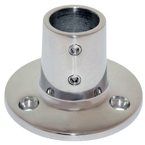 "Whitecap ⅞"" O.D. 90° Round Base SS Rail Fitting - 6039C"