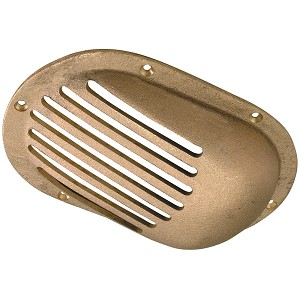 "Perko 3-1/2"" x 2-1/2"" Scoop Strainer Bronze MADE IN THE USA - 0066DP1PLB"