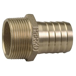 "Perko 1-1/4"" Pipe to Hose Adapter Straight Bronze MADE IN THE USA - 0076DP7PLB"