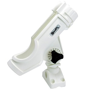 Scotty Powerlock Rod Holder White w/ 241 Side/Deck Mount - 230-WH