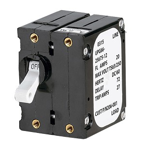 Paneltronics 'A' Frame Magnetic Circuit Breaker - 20 Amps - Double Pole - 206-081S
