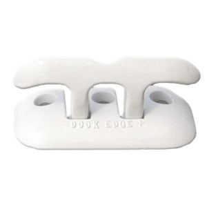 "Dock Edge Flip Up Dock Cleat 8"" - White - 2608W-F"