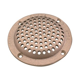 "Perko 6"" Round Bronze Strainer MADE IN THE USA - 0086006PLB"