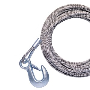 "Powerwinch 20' x 7/32"" Replacement Galvanized Cable w/Hook f/215, 315 & T1650 - P7188500AJ"
