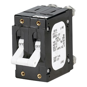 Paneltronics 'C' Frame Magnetic Circuit Breaker - 60 Amp - Double Pole - White - 206-132
