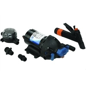 Jabsco Par-Max Washdown Pump Kit - 4.0GPM-60psi-12VDC - Includes Nozzle & Strainer - 32605-0092