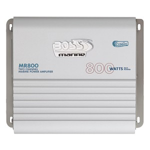 Boss Audio MR800 Marine Power Amplifier 2-Channel MOSFET Bridgeable - MR800