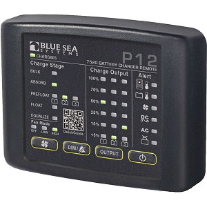 Blue Sea 7520 P12 LED Remote f/Battery Chargers