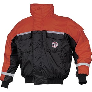 Mustang Classic Bomber Jacket w/SOLAS Tape - Small - Orange/Black - MJ6214T1-S-OR/BK