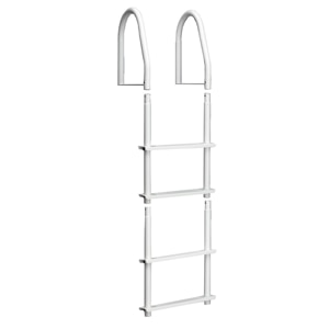 Dock Edge Fixed 4 Step Ladder Bright White Galvalume - 2104-F