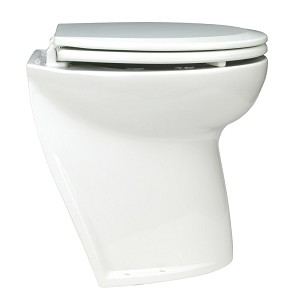 Jabsco Deluxe Flush Electric Toilet - Raw Water - Angled Back - 58220-1012