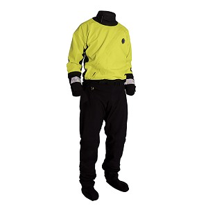 Mustang Water Rescue Dry Suit - XL - Yellow/Black - MSD576-XL