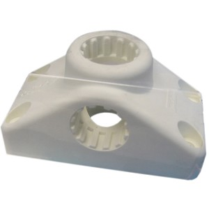 Scotty Combination Side / Deck Mount - White - 241-WH