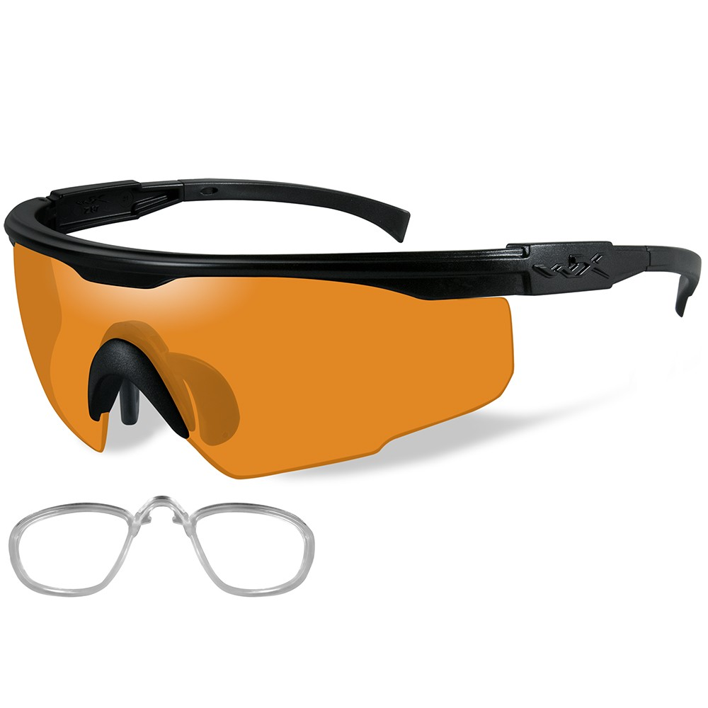 a8fa37a45ba Wiley X PT-1 Sunglasses - Rust Lens - Matte Black Frame with Rx Insert - PT-1LRX